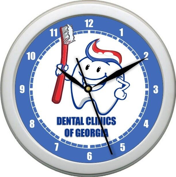 Personalized Dentist Office Wall Clock Hygienist Tooth