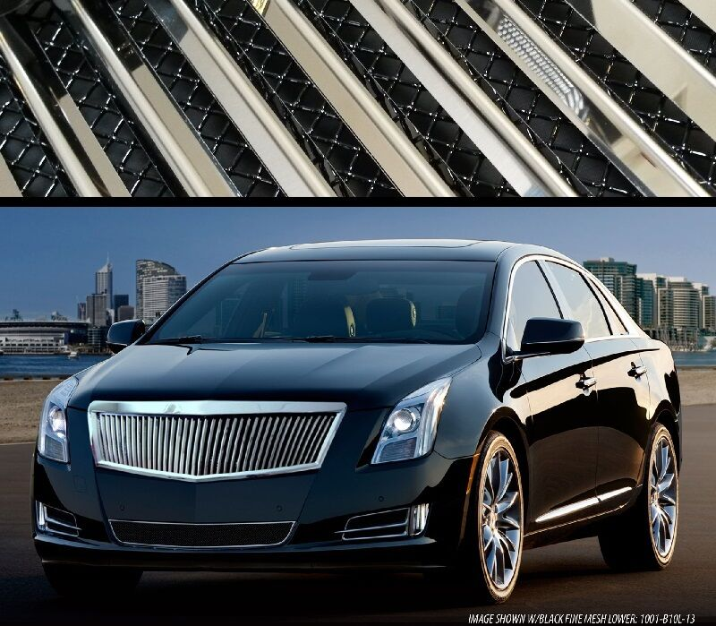 Cadillac Xts 2013 2014 2015 E Amp G Classic Silver Vertical Grille With Mesh Backing Ebay