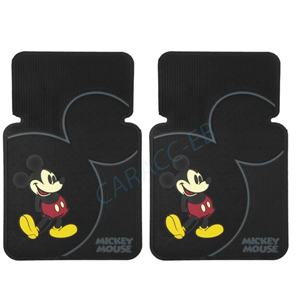 New mickey mouse vintage 2 piece set car truck suv front for 1 piece floor mats