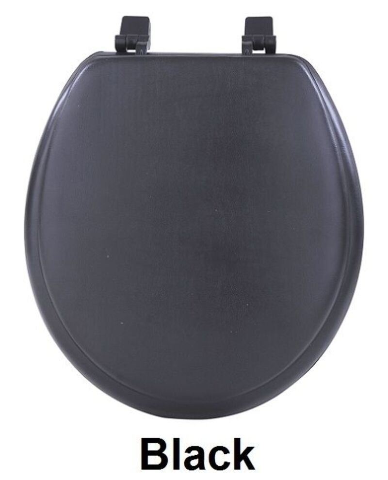 achim fantasia 17 black soft standard vinyl toilet seat. Black Bedroom Furniture Sets. Home Design Ideas