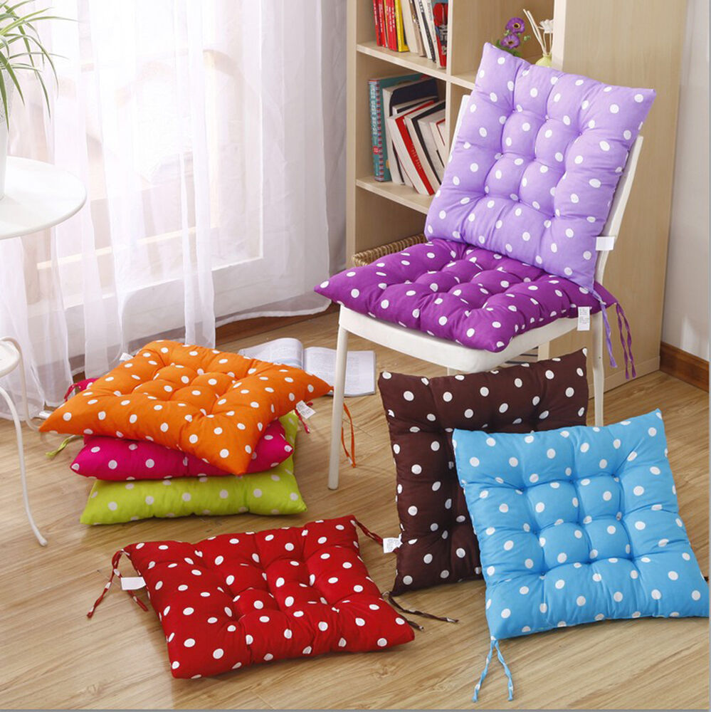 How To Make Dining Room Chair Cushions: TIE ON DOTTY CHUNKY SEAT PAD CHAIR CUSHION PADS FOR DINING ROOM GARDEN KITCHEN