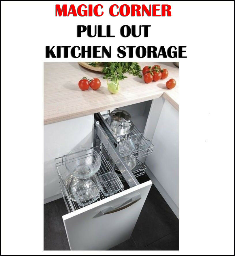 Pull Out Kitchen Storage: MAGIC CORNER PULL OUT KITCHEN STORAGE SOLUTION BLIND