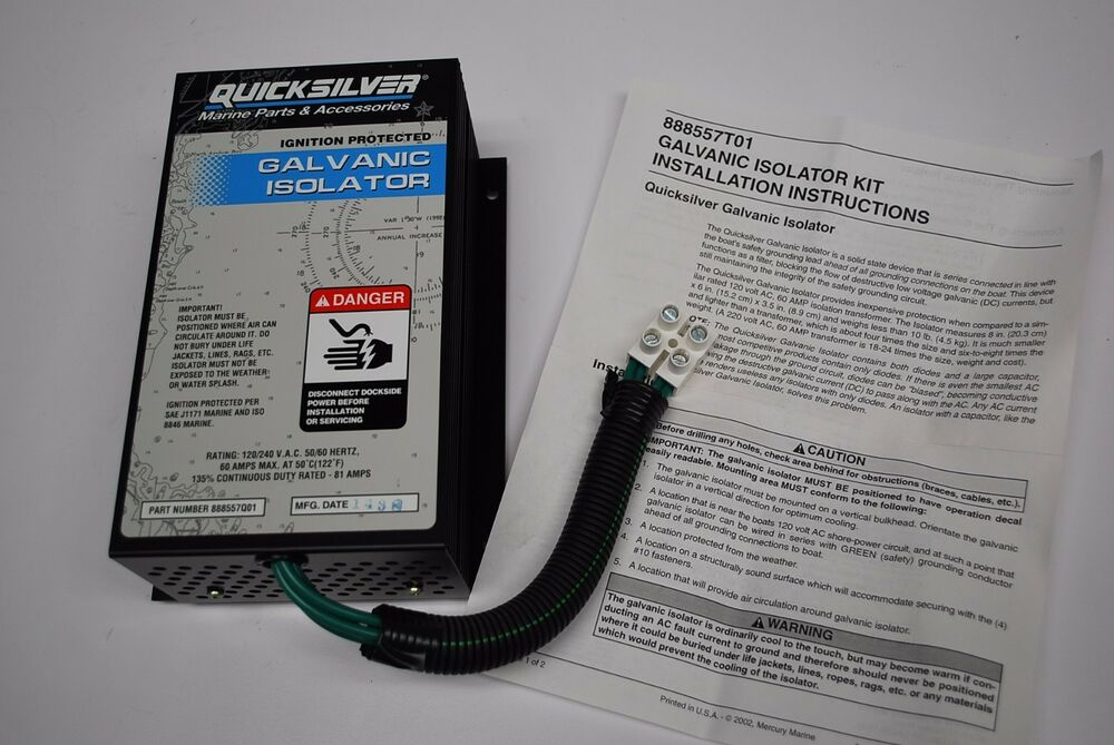 quicksilver 60 amp galvanic isolator kit 888557t01 ignition rh ebay com Guest Galvanic Isolator Install Galvanic Isolator Fittings