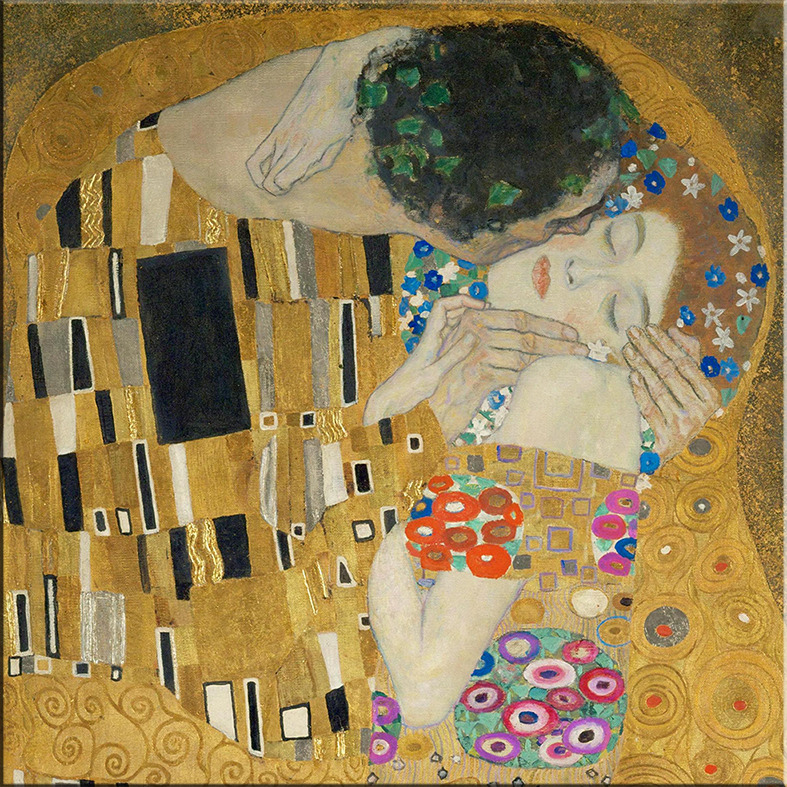 time4bild gustav klimt der kuss detail bilder leinwand reproduktion qualit t art ebay. Black Bedroom Furniture Sets. Home Design Ideas