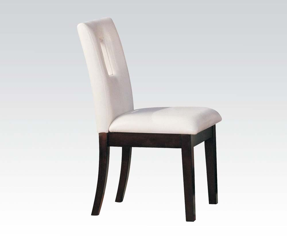 White Simple Modern Comfort Dining Chairs 2pc set Dining