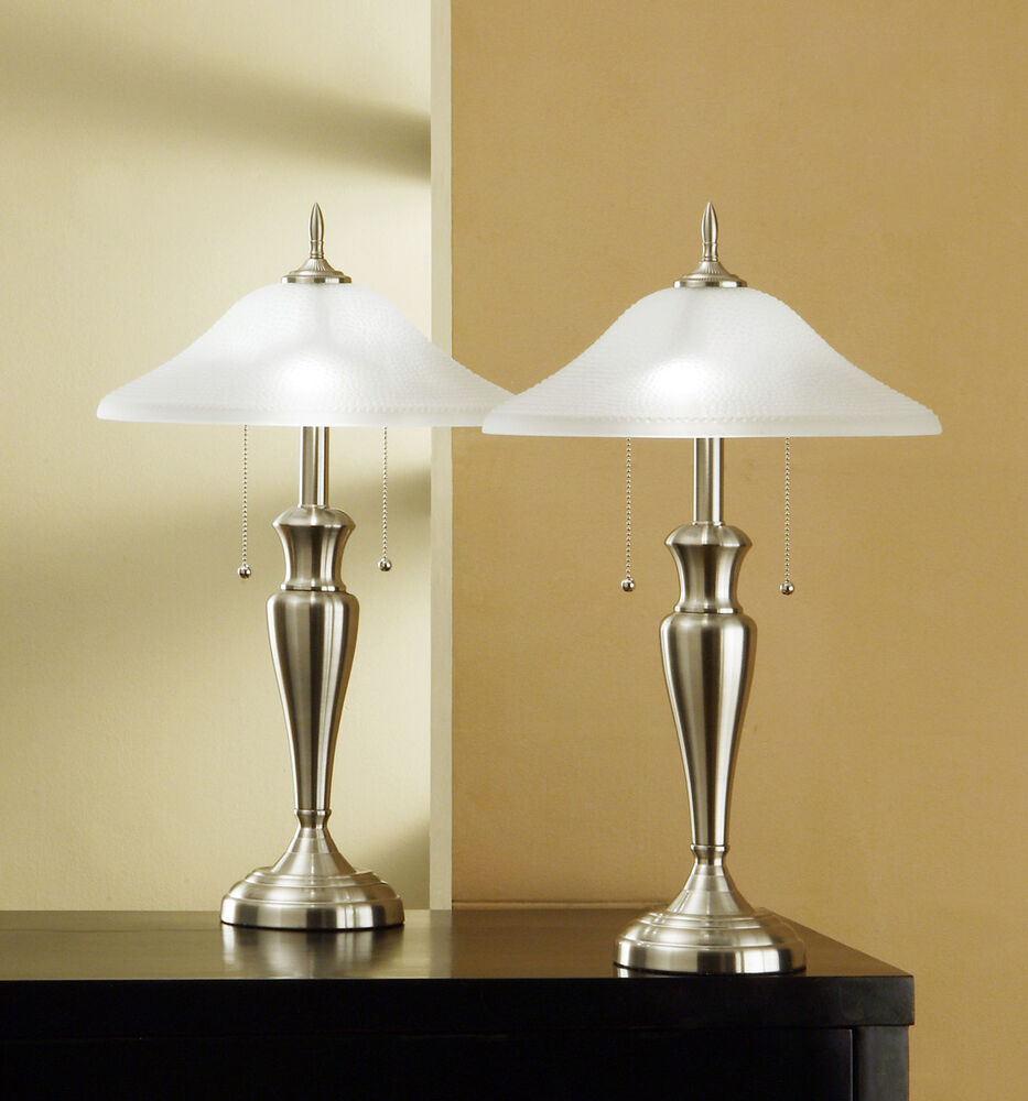 Lamp S: Artiva USA 24-inch Classic Brushed Steel Table Lamps With