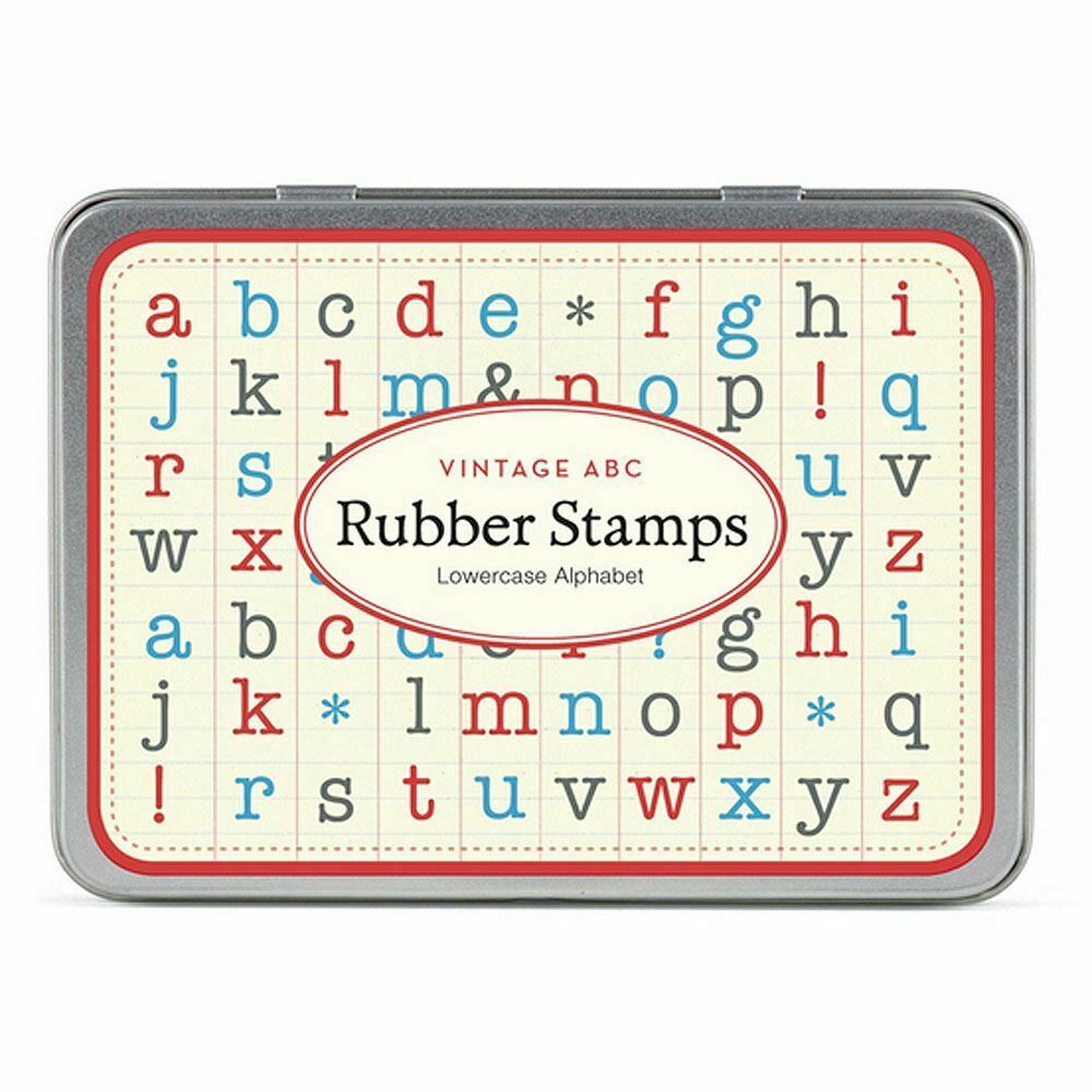 Cavallini Lowercase Alphabet Rubber Wooden Stamp Mini Set