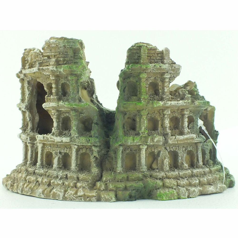 Aquarium roman ampitheatre column fish tank resin for Resine deco