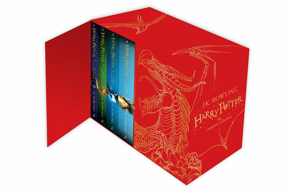 Harry Potter The Complete Collection 7 Books Set JK Rowling Red 9781408856789