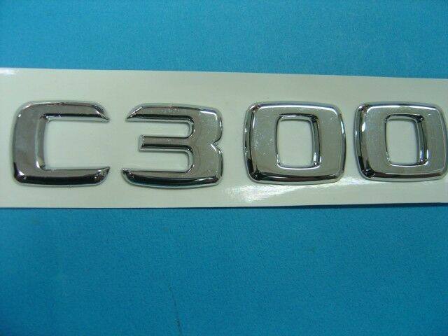 Free shipping c300 trunk letter emblem badge for for Mercedes benz trunk emblem