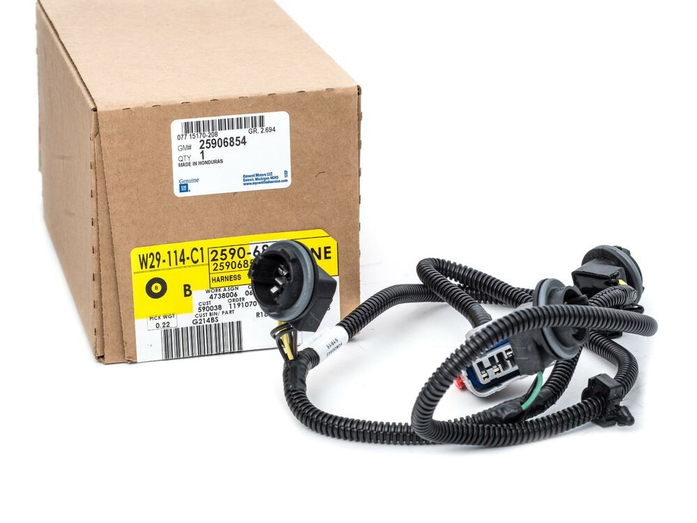 oem new rear left drivers light wiring harness 07 14 silverado ebay