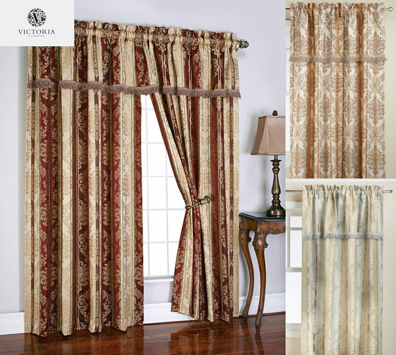 Vcny Brazil Window Curtain With Attached Valance