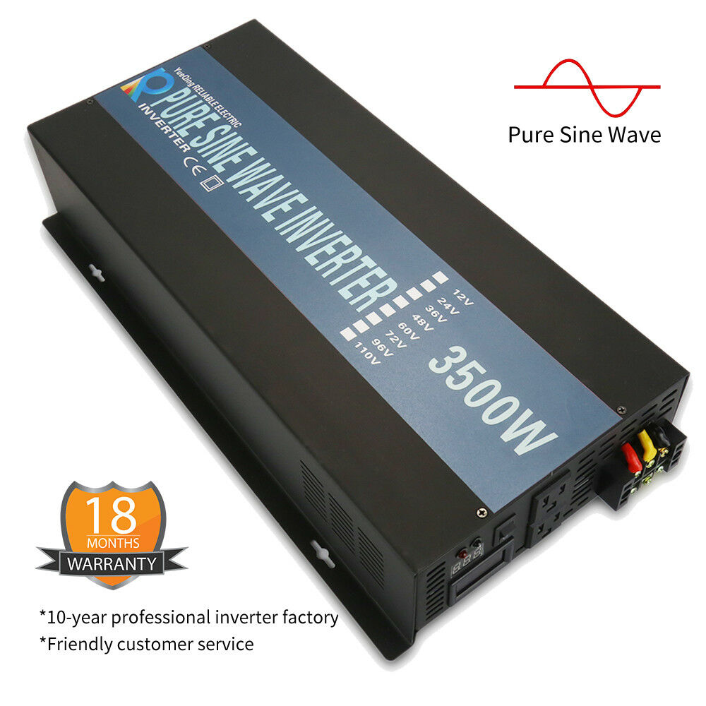 3500w solar pure sine wave power inverter dc 24v to ac 120v home solar system 600346542808 ebay. Black Bedroom Furniture Sets. Home Design Ideas