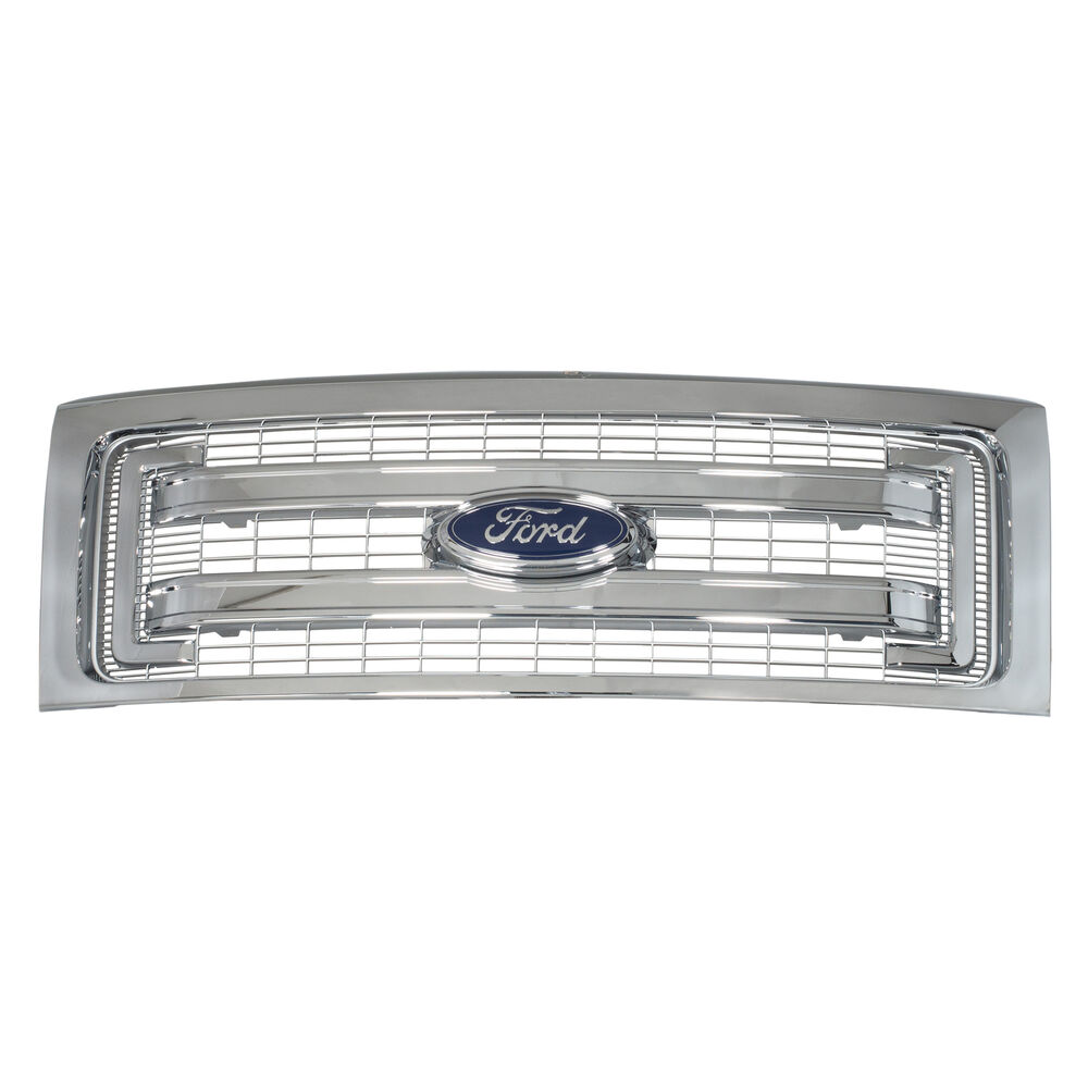 2009-2014 Ford F-150 Chrome Radiator Grille 2 Bar Stock On ...