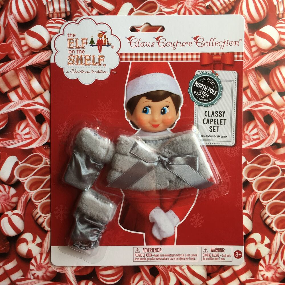 2015 Silver Gray Classy Capelet Set Elf On The Shelf Claus