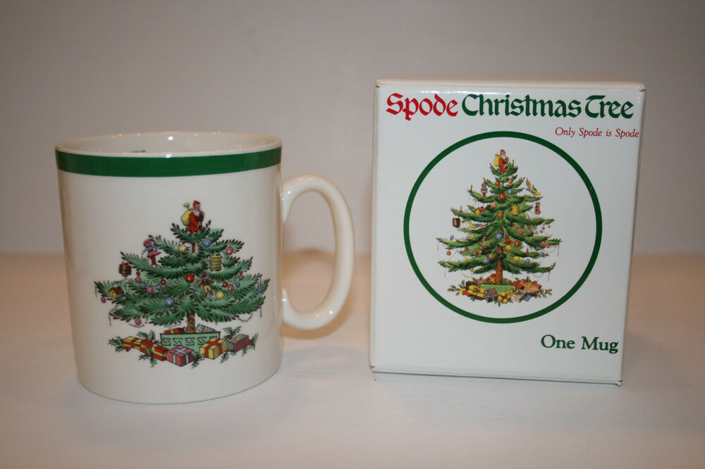 Spode Christmas Tree Tom And Jerry Mugs Made In England In