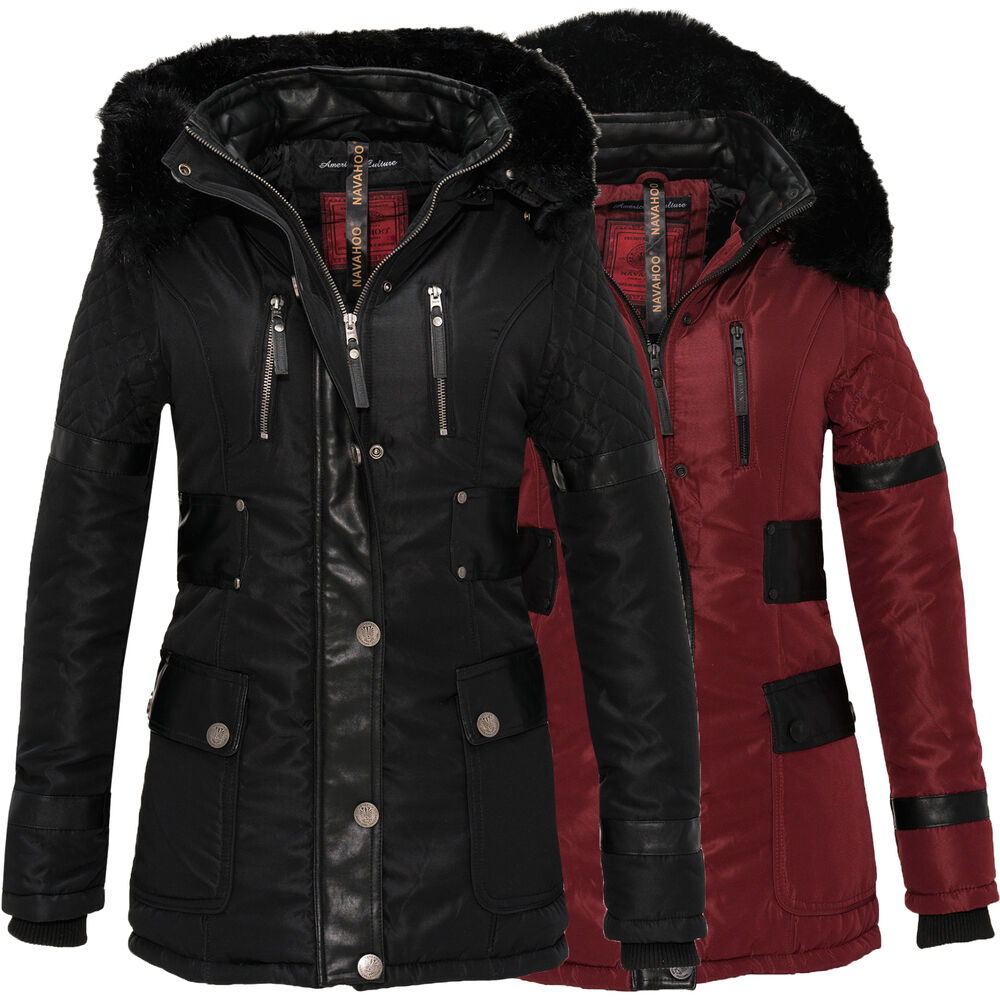 navahoo suri damen jacke herbst winter mantel parka. Black Bedroom Furniture Sets. Home Design Ideas