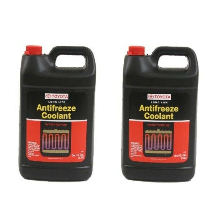 2 Gallons Antifreeze Coolant Genuine Toyota Red Color