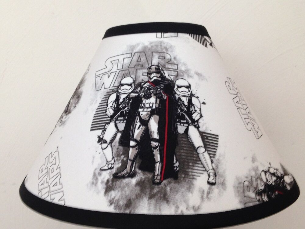 star wars storm troopers fabric lamp shade ebay. Black Bedroom Furniture Sets. Home Design Ideas