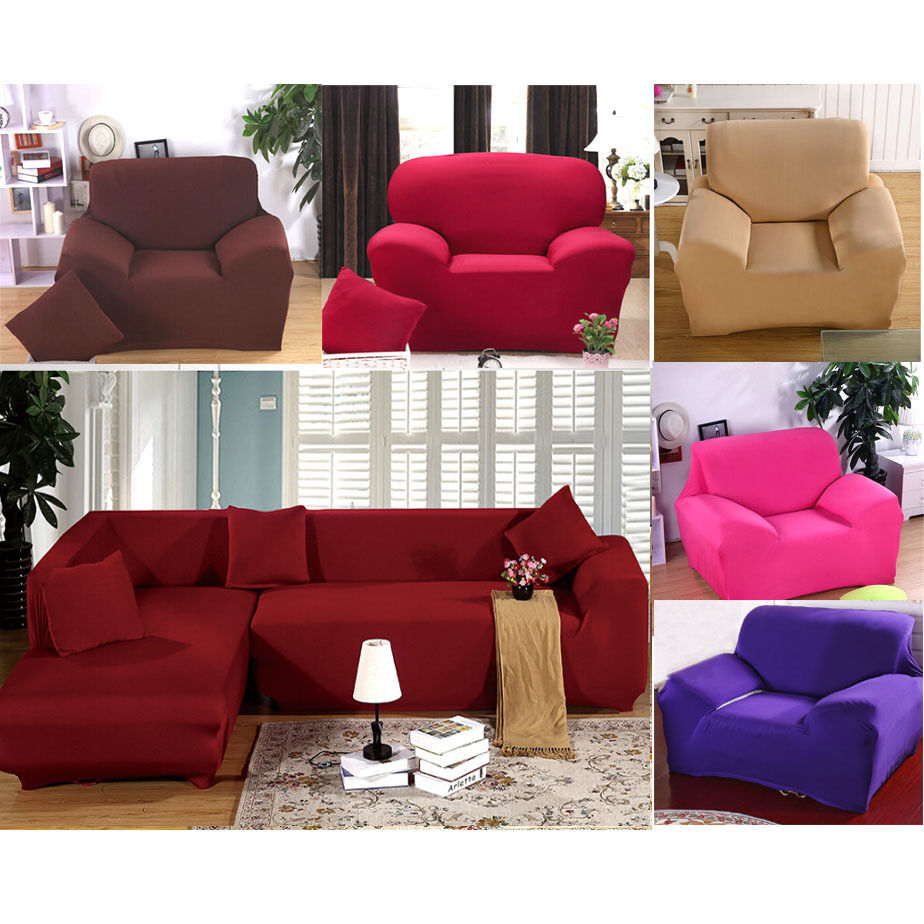 High Quality Furniture Protector Sofa Arm Chair Settee Elastic Slip Cover Throw Ebay