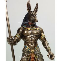 Kyпить Egyptian Anubis Jackal W/ Cobra Scepter Statue Sculpture Antique Bronze Finish на еВаy.соm
