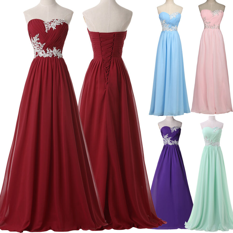 2016 Plus Size Long Dress BEADED Prom Evening Gown Ball