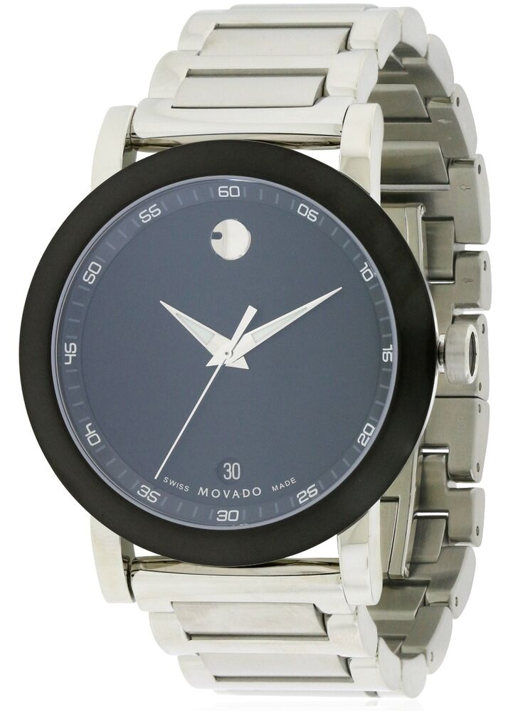 Movado museum mens watch 0606604 885997050623 ebay for Watches on ebay