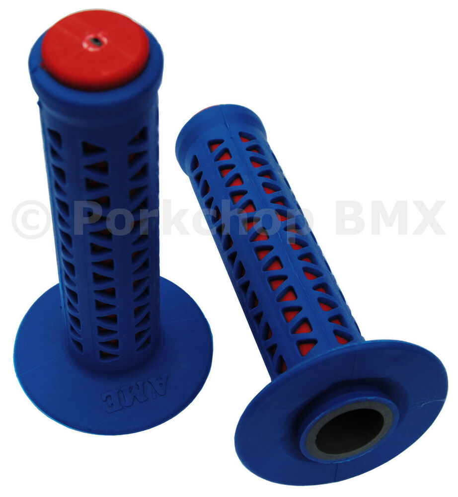 ame old school bmx unitron bicycle grips blue over red made in usa new ebay. Black Bedroom Furniture Sets. Home Design Ideas