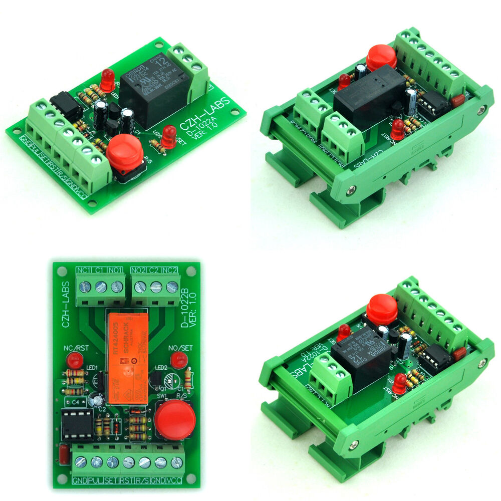 Momentary Switch Pulse Signal Control Latching Relay Module 5v Circuit Using Non Push Button Switches Relays 12v 24v Ebay