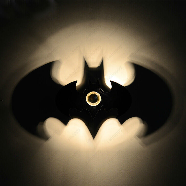 Batman Wall Light Diy : 5W LED Batman Wall Sconce Light Fixture Indoor Lamp Kids Room Bedroom Hotel Bar eBay