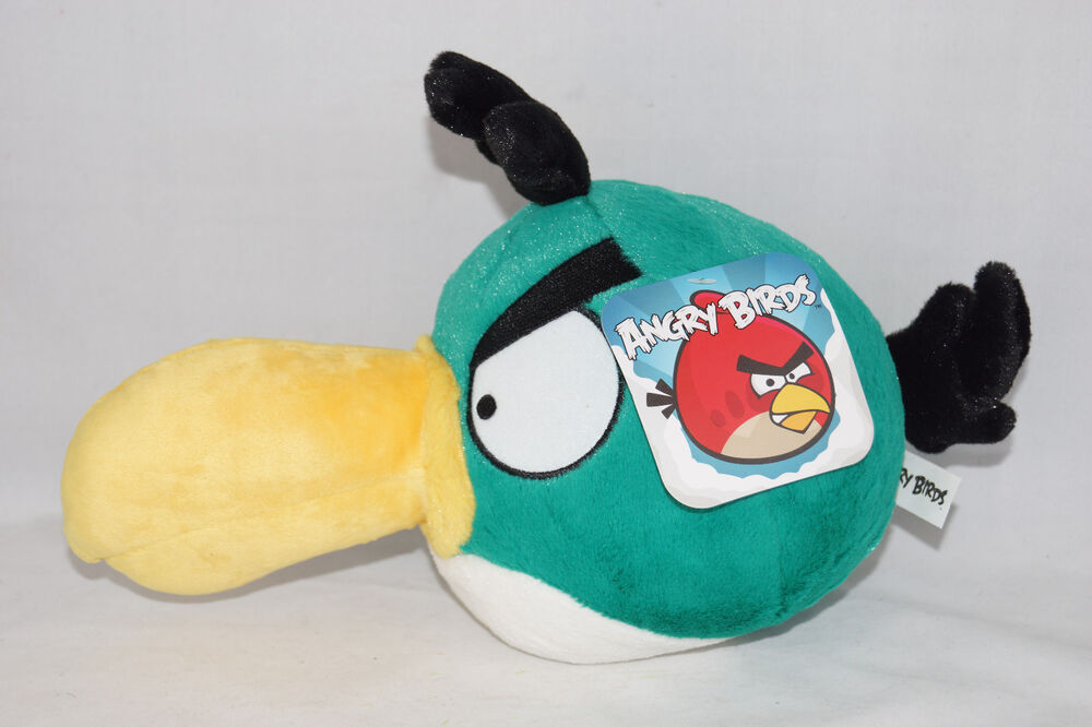 Angry Birds Toys : New angry birds deluxe in plush toy hal toucan green