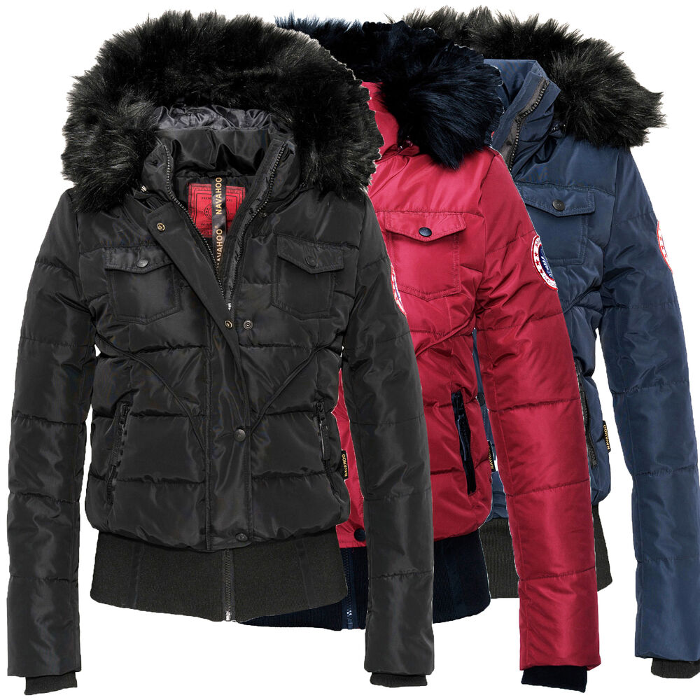 navahoo alice damen jacke herbst winter stepp jacke mantel parka damenjacke warm ebay. Black Bedroom Furniture Sets. Home Design Ideas