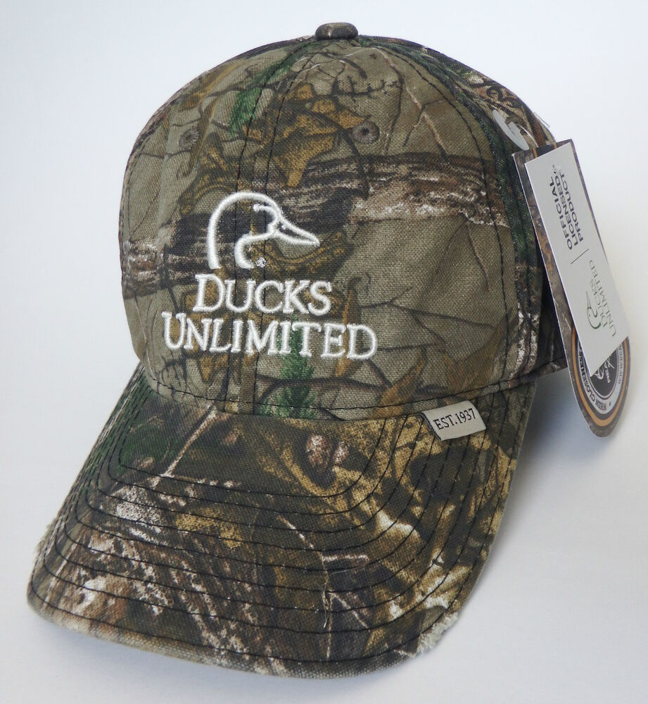 DUCKS UNLIMITED hunting shooting hat NEW realtree xtra ...