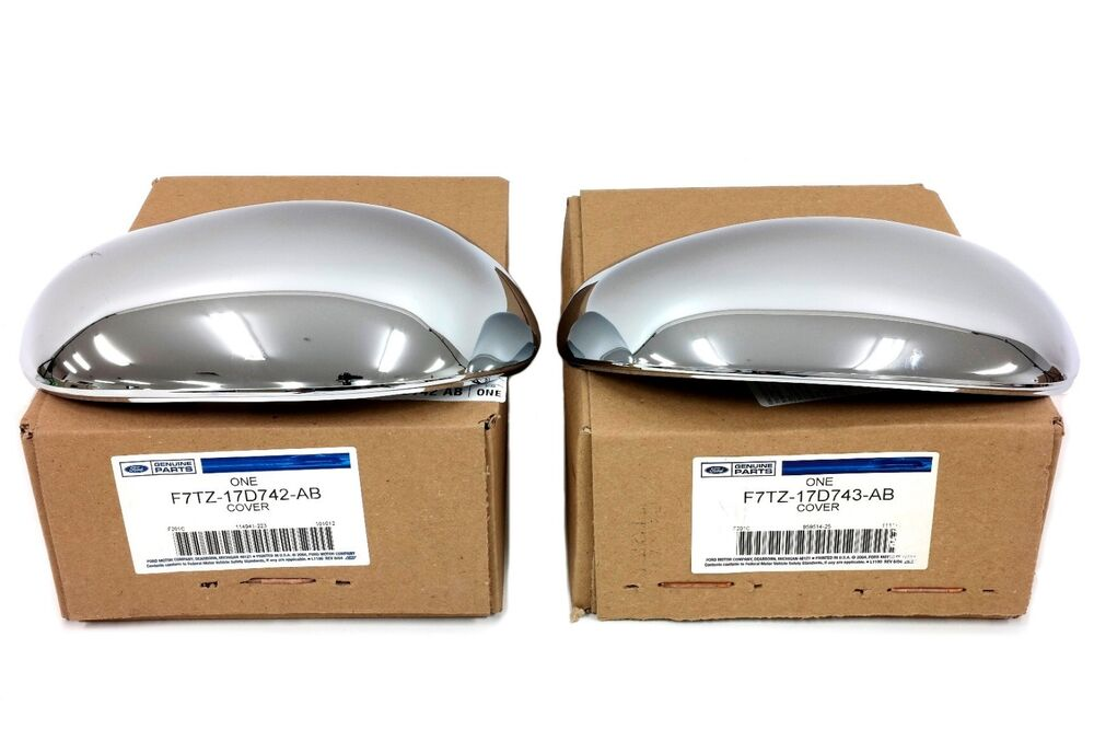 Ford F150 F250 Chrome Side View Mirror Back Cover Caps