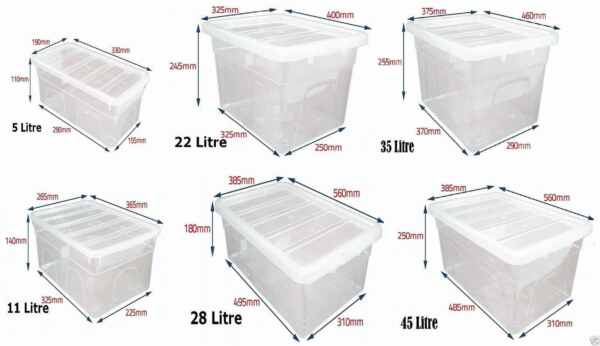 Strong Plastic Stackable Storage Box Boxes With Lid Clear Containers Home Office