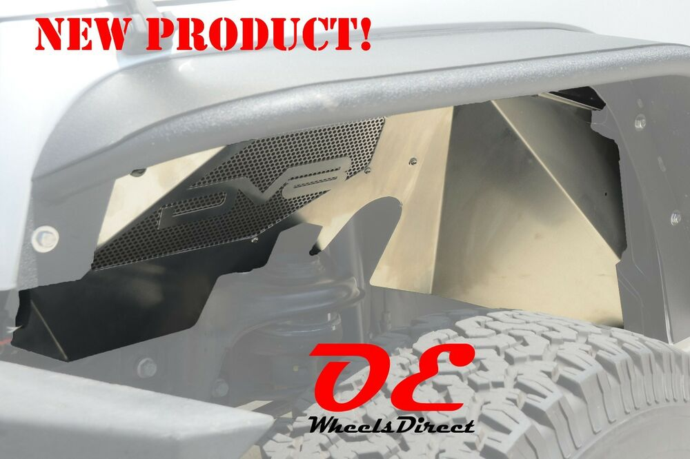 New Dv8 Inner Fender Liners Front Pair Raw Jk Jeep