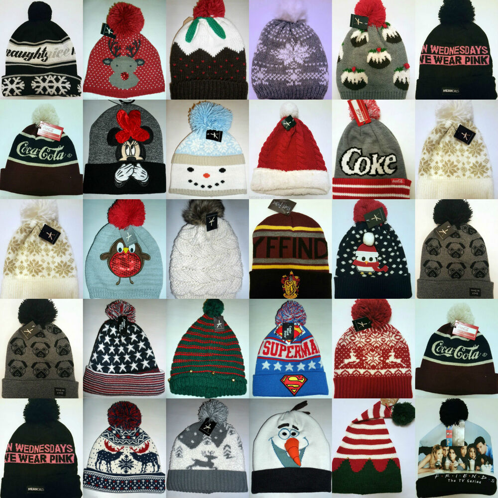 78af0c8a1f4 Details about PRIMARK CHRISTMAS WINTER HAT LADIES MEN S BOBBLE HAT POM POM  BEANIE ONE SIZE NEW