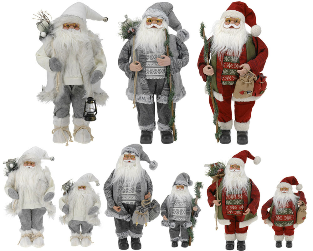 Stunning Traditional Father Christmas Santa Claus Figure