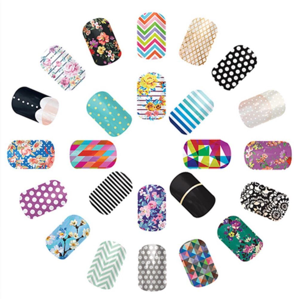 Jamberry Nail Wraps Lot 40 Samples 80-120 Accent Nails Mixed ...