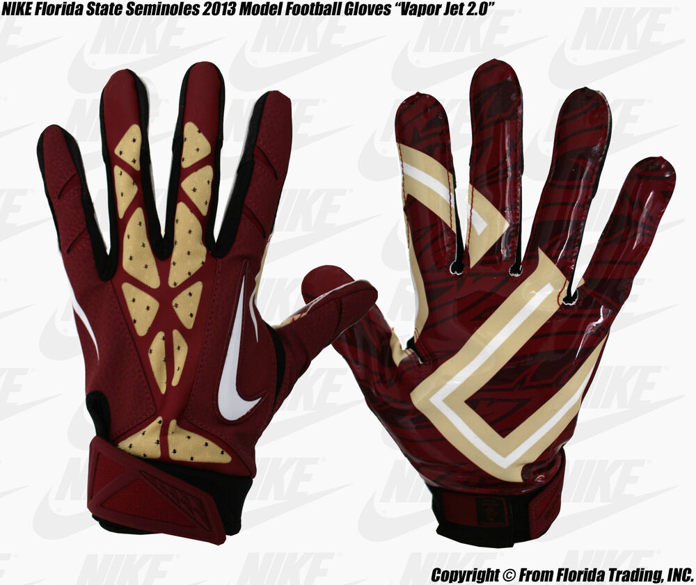 Nike Football Gloves: FL State Seminoles NIKE Team Authentic Series Football