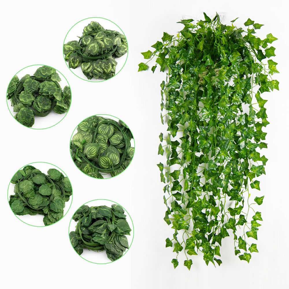 Artificial ivy vine fake foliage dried flower for Artificial leaves for decoration