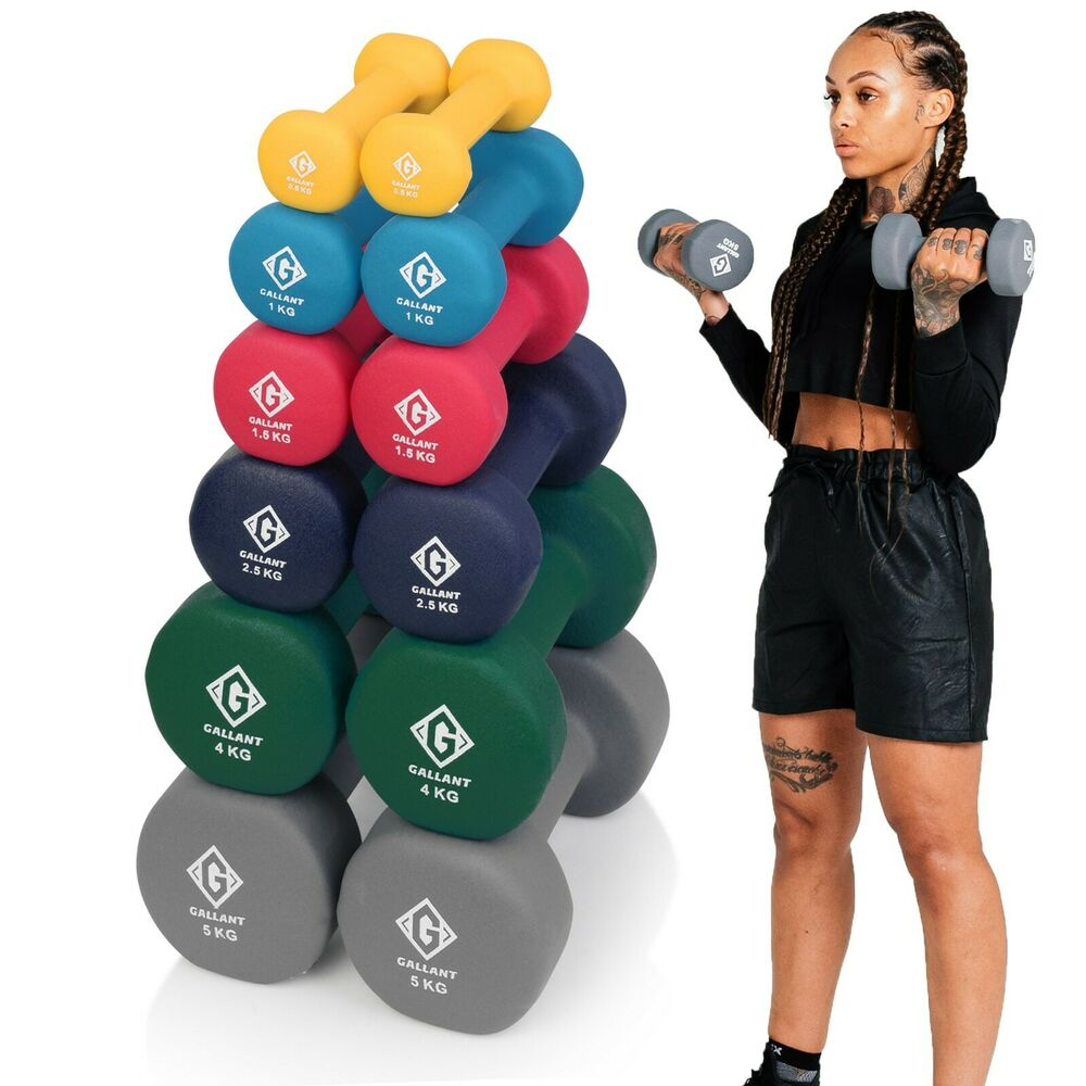 Neoprene hand weights dumbells iron home gym fitness