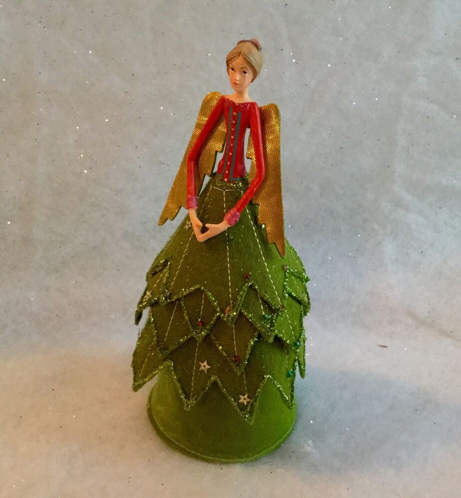 Gisela Graham Christmas Tree Topper: Gisela Graham Christmas Tree Holly Leaf Fairy Angel Topper