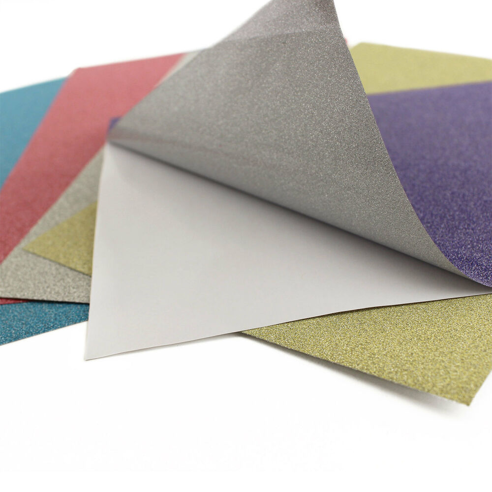 6 x 9 adhesive back glitter foil paper scrapbooking for Silver foil paper craft