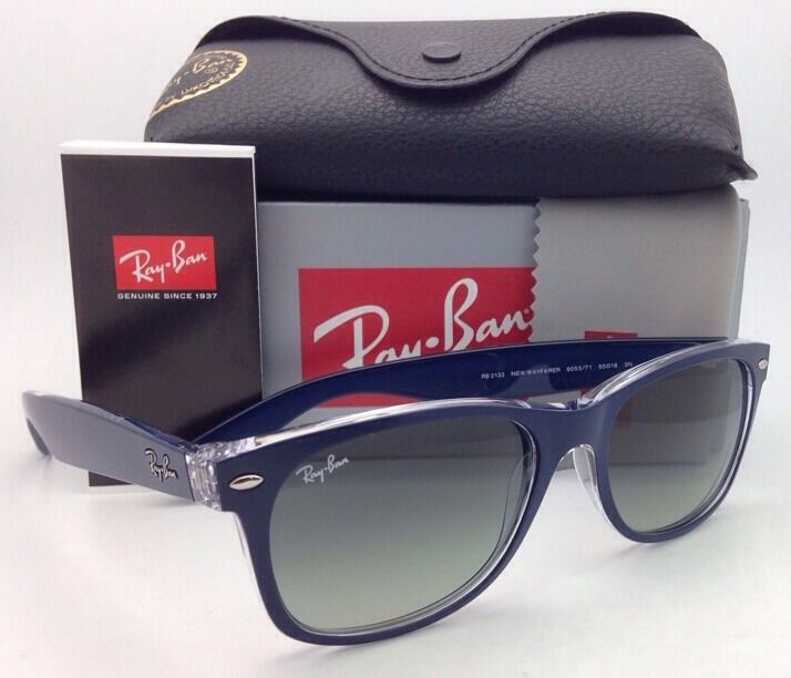 New RAY-BAN Sunglasses NEW WAYFARER RB 2132 6053/71 55-18