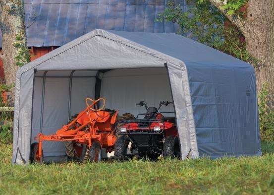 Portable Steel Garages And Shelters : Shelterlogic oz shelter portable garage steel