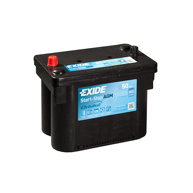1x exide stop start 50ah 800cca 12v agm car battery 4 year warranty ek508 ebay. Black Bedroom Furniture Sets. Home Design Ideas