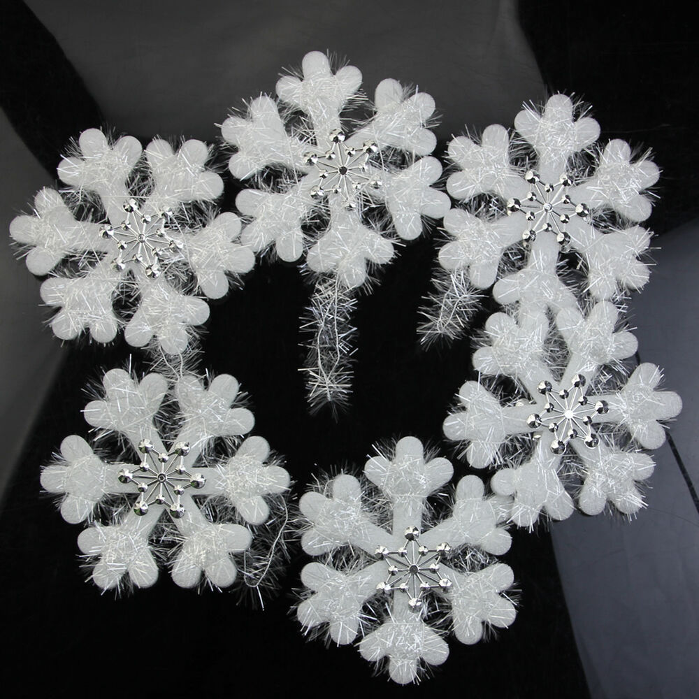 16cm wall window decor christmas 3d foam snowflake hanging for Hanging christmas decorations