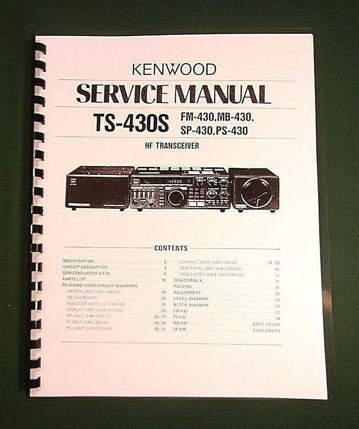 Kenwood ts 430s service manual