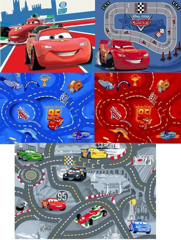 spielteppich kinderteppich stra enteppich disney cars teppich kinderzimmer auto ebay. Black Bedroom Furniture Sets. Home Design Ideas
